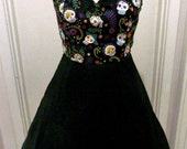 Day of the Dead Dress Sugar Skull Pin Up Psychobilly Clothing Rockabilly 50s Swing Plus Size
