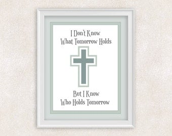 Christian Quote Art Print - 8x10 - Positive Words - Wall Art - Gift Idea - Item #565