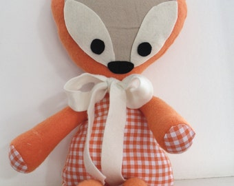 handmade stuffed fox
