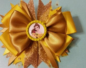 Disney Princess Belle  Hair bow