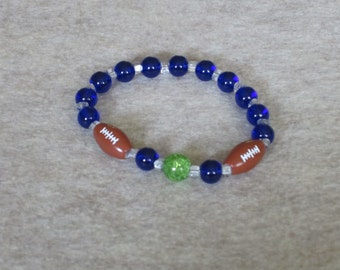 Stretchy Bracelet Inspired by the Seattle Seahawks