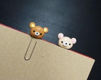 Rilakkuma Bookmark Paperclip