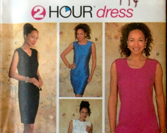 Simplicity 7194 - 2 Hour Dress - Knee Length Sheath in Four Styles - Size 10-14