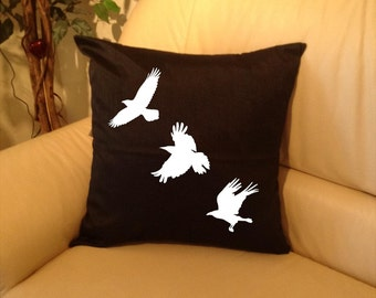Ravens pillow cover Available in many colours
