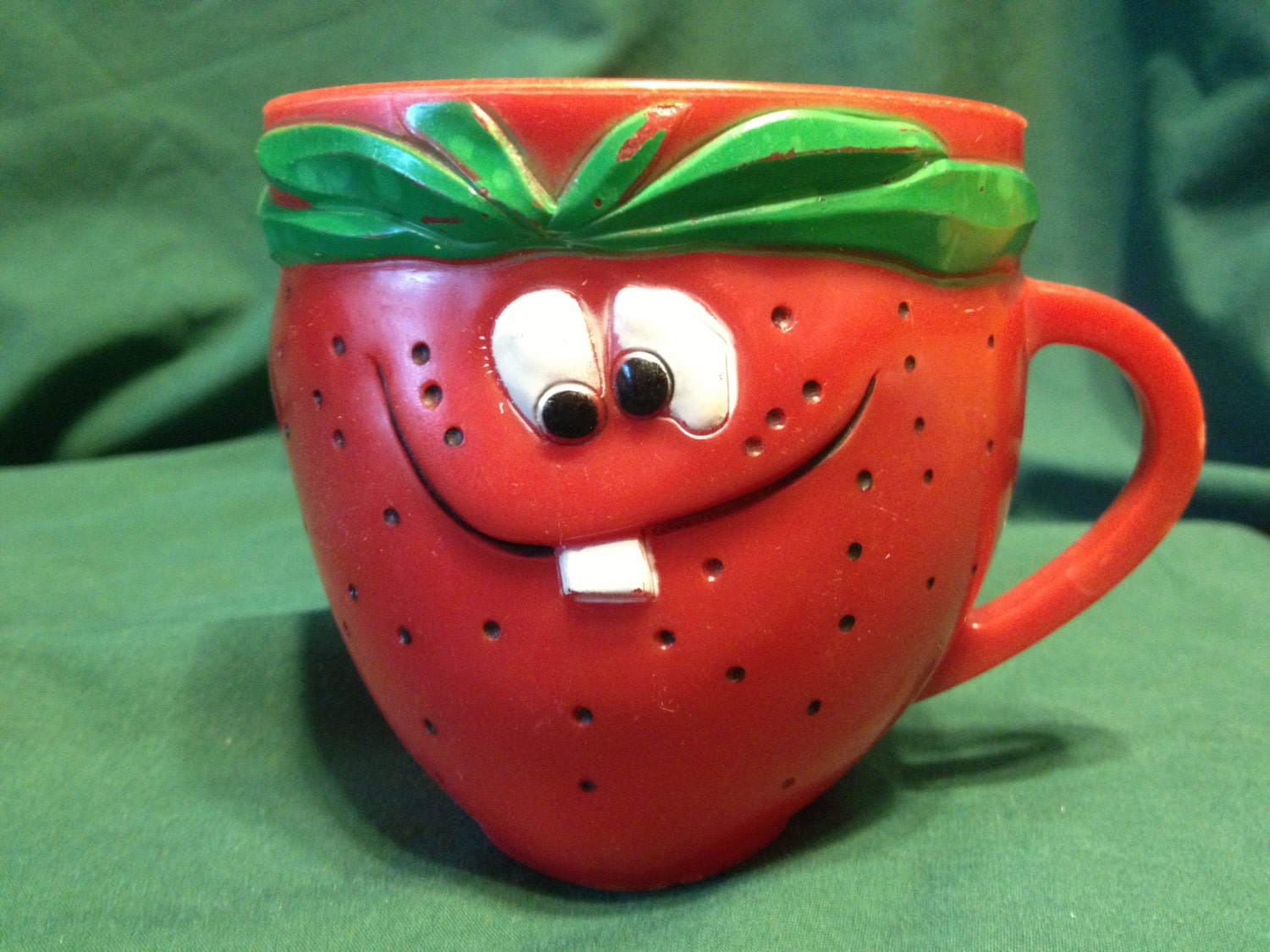 Freckle Face Strawberry Kool Aid Funny Face Vintage Mug By