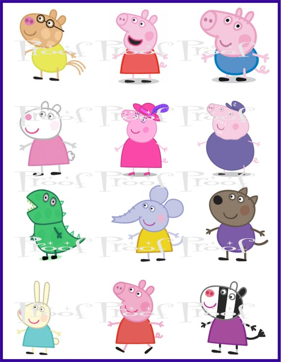 Peppa Pig DIY Printable Birthday Party Centerpiece by KlaraOzmen