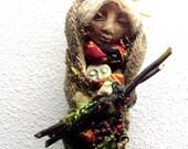 Equinox Moon, Nature Spirit, Handmade OOAK Art Doll, Garden Spirit,  Cottage Chic Decor