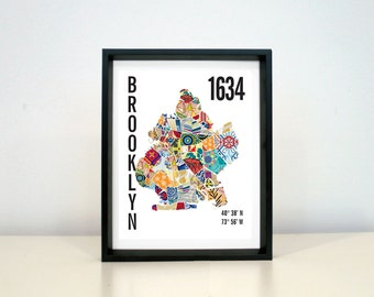 Brooklyn City Map print