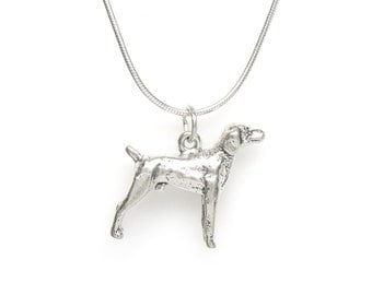 Retriever Sterling Silver Dog Breed 3 Dimensional Pet Charm Pendant Customize no. 2068