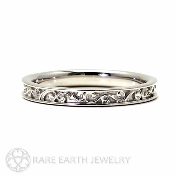 Filigree Wedding Band Wedding Ring for Vintage Ring by RareEarth