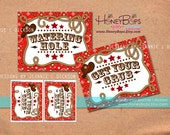 "Instant Download Western Red Bandanna 8x10"" Printable Party Signs NON-PERSONALIZED - PDF digital file"