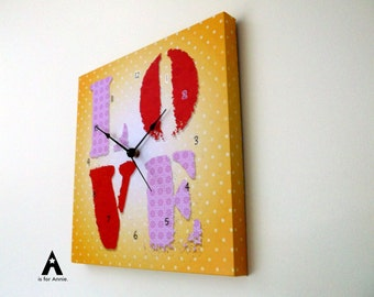 Clock - LO VE Yellow Ombre