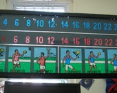 SOCCER SCOREBOARD Glass, from Italian Vintage electronic game - looks like Stained Glass!