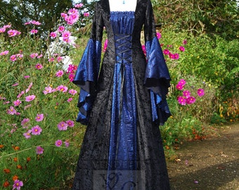 Medieval Dress Wedding gown Handfasting Gothic Available in sizes S to XXL Custom made for you.