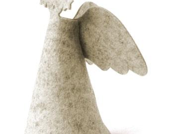 Christmas angel decor - Christmas tree topper - Holiday decor - Felt angel tree topper - minimalist nordic design - P