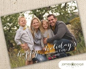 Simply Happy Holidays One Picture Card Design (4x6, 5x7 and 6x7.5)