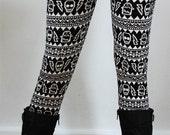FREE SHIPPING for 2 !! Christmas Leggings, Womens leggings, yoga Leggings, aztec leggings, skull leggings, patterned leggings, girl leggings