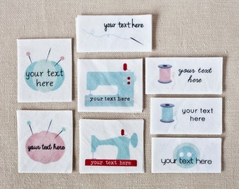 Custom Sewing Labels, Personalized Logo Tags (Sewing Gift or Seamstress Gift)