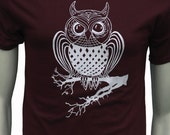 Owl  Men's regular T Shirt  Art by MATLEY  up to 5XL  Unisex  Bird  Gifts for him  Gifts for her.