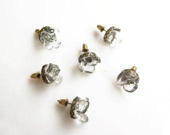 Clear Quartz Earrings, Crystal Quartz Studs, Handmade Quartz Earrings