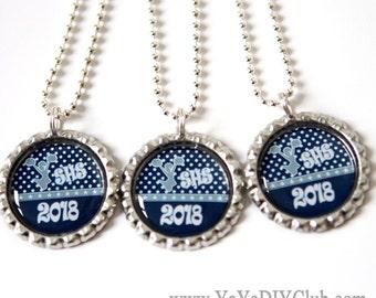 Navy blue Cheerleader gift, Cheerleader jewelry, Cheerleading gift, Cheerleading jewelry, Cheerleading party favors - custom color name