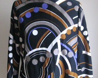 60s vintage graphic mod dress