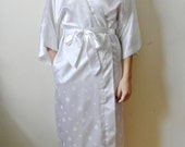 Vintage Saks Fifth Avenue Robe White Polka Dot House Coat Gift For Her Mom