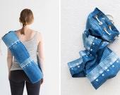 Indigo Dyed Yoga Mat Bag: Clamp