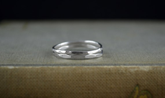 1 Flashy Stacking Sterling Silver Forged Band