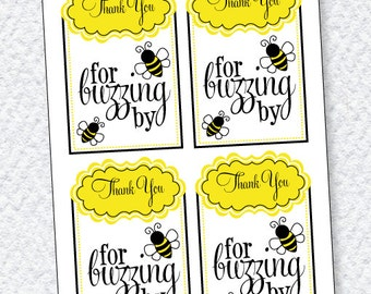 Bee Party PRINTABLES Favor Tags (INSTANT DOWNLOAD) by Love The Day