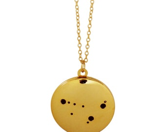 Gold Plated Capricorn Locket Necklace