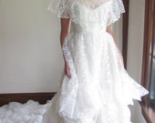RESERVED: Lace Dream Victorian Revival Wedding Gown