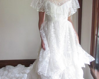 Lace Dream Victorian Revival Wedding Gown