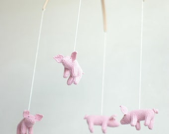 baby mobile - nursery mobile -  Piglet  mobile - ready to ship