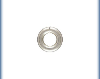 Sterling Silver 18ga 4mm Open Jump rings - 50pcs (6389) High Quality Made in USA Jump Rings