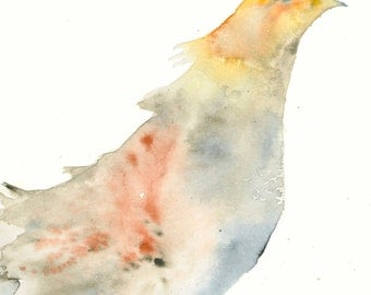Bird Art Print from Original Watercolor Bird Art Painting Partridge