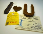 Vintage Masonite I <3 U Sign,  Heart Letter Type for Home Decorative, Wall Hanging, Wedding Coffee Table, Love, Friendship Life