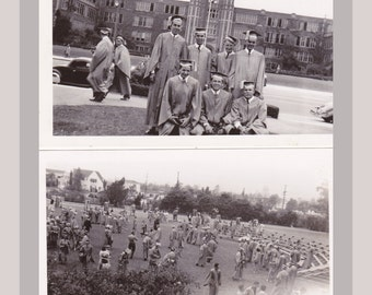 High School Graduation Pictures- 1940s Vintage Photographs- Found Photos- SET of 4- Graduating Class- School Snapshots- Paper Ephemera