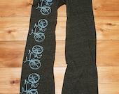 bespoke bicycle Pants, Bike Pants, Lounge Pants, Yoga Pants, S,M,L,XL