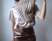 The Manhattan Cowl Hand Knit in Linen Wool Blend