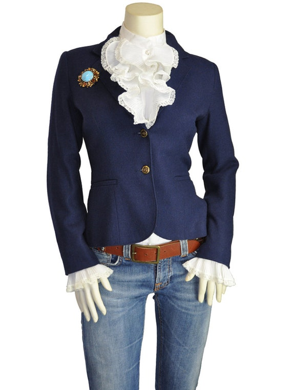 Images of Womens Navy Blazer - Reikian