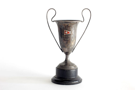 Antique 1927 Trophy - Tarnished Silver