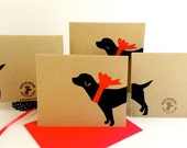Labrador Card Set % ANIMAL RESCUE ECO Friendly Pack Blank Cards, Dalmatian, Holiday, Thank You Recycled Bulk Black Lab Dog Lover Retriever