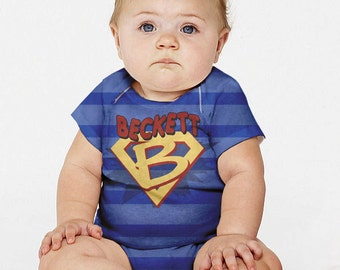 Baby Superhero Shirt, Personalized Boy's Snap-shirt, Boy's Super Hero Costume With Cape