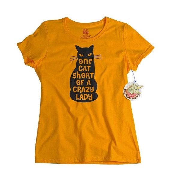 One Cat Short Of Crazy Cat Lady T Shirt