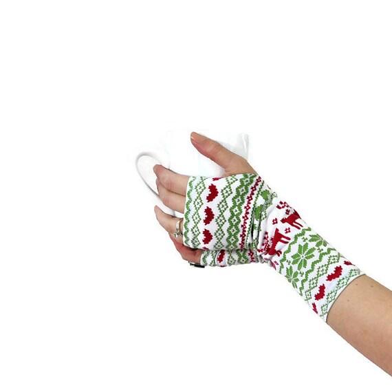 Fair Isle Fingerless Gloves — Crafthubs