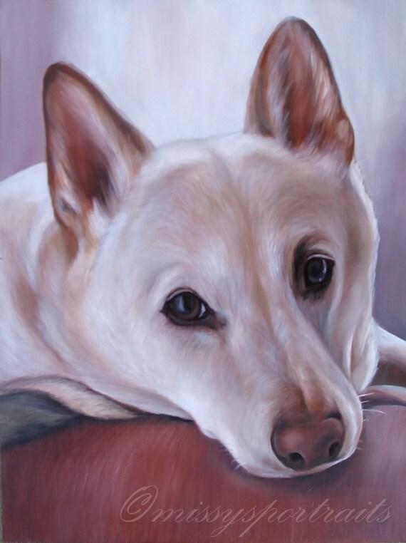 """Custom Pet Portrait - Oil Painted Dog Portrait - Perfect Gift Idea - 8""""x10"""""""