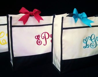 Set of 6 Bridesmaid Tote Bags Wedding Party Gifts