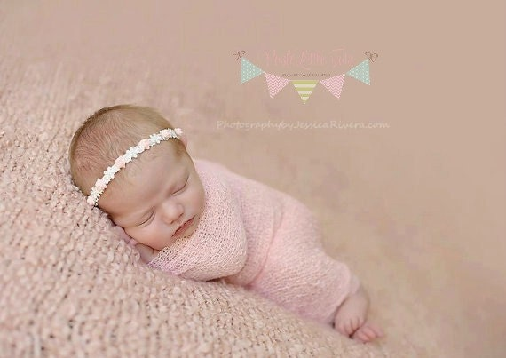 Baby Headband - Baby Girl - Newborn Headband - Flower Tieback - Halo - Baby Tiara - Girls Headband - Flower Headband - Photo Prop - Baby