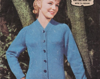 Paton's Knitting Pattern No 587  Fashion For Women in Patons Yarn (Vintage 1950s)